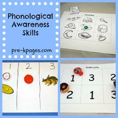 Phonological Awareness Ideas for Preschool and Kindergarten via www.pre-kpages.com