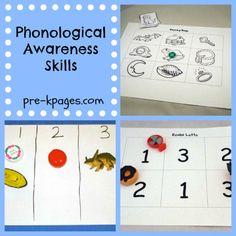 Phonological Awareness Ideas for Preschool and Kindergarten via www.pre-kpages.com