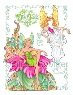 Flora and Fauna Fairy Paper Doll