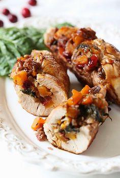 Butternut Stuffed Turkey Tenderloin – Best Healthy Family Thanksgiving Dinner…