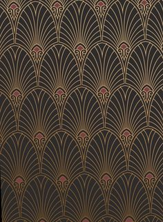 Give Decor A Spin With These 18 Vivacious Art Deco Wallpapers - 18 Art Deco Wallpaper Ideas – Decorating with Art Deco Wall Coverings - Wallpaper Colour, Wallpaper Art Deco, Wallpaper Ideas, Antique Wallpaper, Bedroom Wallpaper, Wallpaper Designs, Retro Wallpaper, Bedroom Art, Iphone Wallpaper