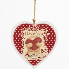 Personalised Forever Friends Love Wooden Heart  from Personalised Gifts Shop - ONLY £10.95