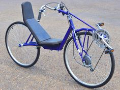 The FrontRunner uses standard cycle components Old Bicycle, Old Bikes, Bmx 16, Upright Bike, Build A Bike, Recumbent Bicycle, Motorcycle Shop, Bike Pedals, Bike Seat