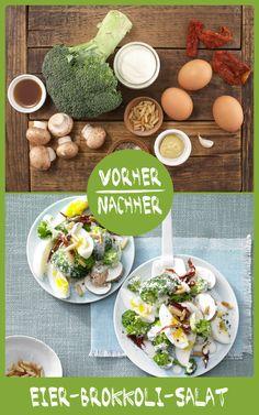 http://eatsmarter.de/rezepte/eier-brokkoli-salat Dieser Salat schmeckt und ist leicht zubereitet.