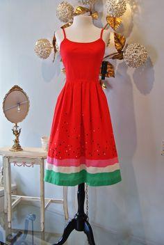 Cute watermelon dress.