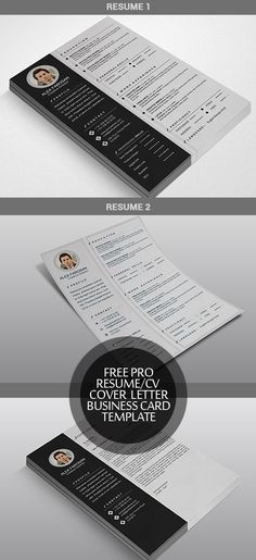 Free Resume and Visit Card Templates Free PSD Files Pinterest - free print resume