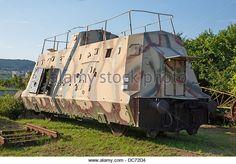 armoured German wagon form second world war - combat train - Stock Image
