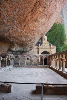 The Monastery of San Juan de la Peña Wonderful Places, Great Places, Beautiful Places, Aragon, Places Around The World, Around The Worlds, Places To Travel, Places To Visit, Places In Spain