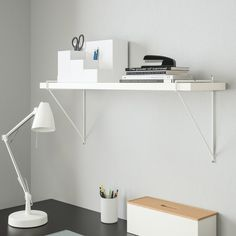 Harga perabotan rumah tangga di bawah Rp 1 juta | IKEA Indonesia Console Ikea, White Wall Shelves, Shelf Wall, Empty Wall, Shelf Brackets, Apartment Interior, Display Shelves, Home Decor Accessories, White Walls