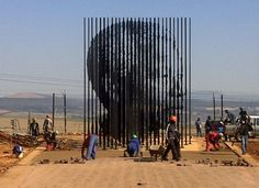 Nelson Mandela — Howick, South Africa The hero of South Africans (and many other people around the world), Mandela is immortalized by this powerful statue commissioned by the South African government.