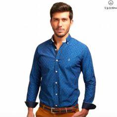 """Shirt La C """"Granada"""". Color índigo con rayas."""