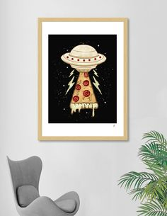 «In Pizza I Believe», Exclusive Edition Art Print by Rizki Irfansyah - From $25 - Curioos