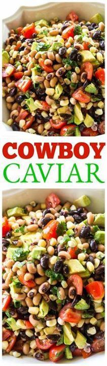This Cowboy Caviar i This Cowboy Caviar is one of my favorite...  This Cowboy Caviar i This Cowboy Caviar is one of my favorite recipes to bring to a potluck or BBQ. Beans avocado tomatoes and corn tossed in a light dressing. Eat with chips or just a fork! the-girl-who-ate- Recipe : http://ift.tt/1hGiZgA And @ItsNutella  http://ift.tt/2v8iUYW