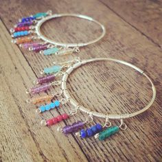 New warm weather jeweled hoops!