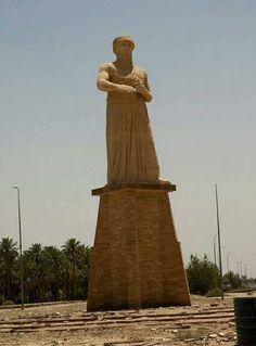 statue of Hammurabi at Babil province, Iraq