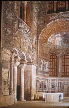 Chruch of San Vitale interior View towards High Altar