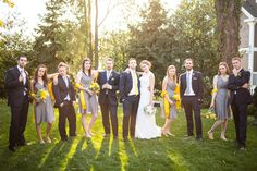 A Lovely Fall Wedding at Thomas Birkby House with Blue, Gray & Yellow Hues | Fab You Bliss