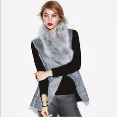 Fur Vest I bought this from Avon. I have only tried it on. I paid $60.00. I live in a smoke free home and it has been on the hanger since I bought it. Brand new! Avon Jackets & Coats Vests