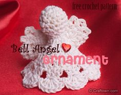 ♥ⓛⓞⓥⓔ♥ Bell Angel Ornament. I am going to make one of these in memory of my daughter Serra for her birthday on Valentine's Day and call it my ♥Angel of Love♥ Nothing could be more appropriate.....I miss you, Serra. ♥