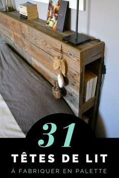 Pallet Headboard: 31 New Ideas for Your Bedroom Homemade Beds, Furniture Decor, Cheap Furniture, Diy Furniture, Furniture, Shabby Chic Furniture, Pallet Headboard, Home Deco, Baby Nursery Decor