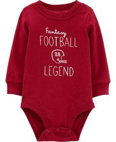 Carters Baby, Baby Boy, Fantasy League, Game Day Shirts, Cute Games, Fantasy Football, Boho Baby, Unisex Baby, Dark Red