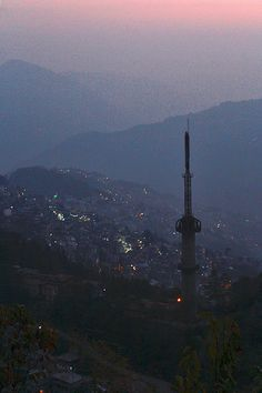 An evening in the city of Gangtok.