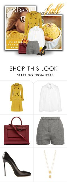 """""""Welcome Fall"""" by fashionbrownies ❤ liked on Polyvore featuring Jaeger, Theory, Carven, Alexander Wang, Dsquared2 and Jennifer Zeuner"""