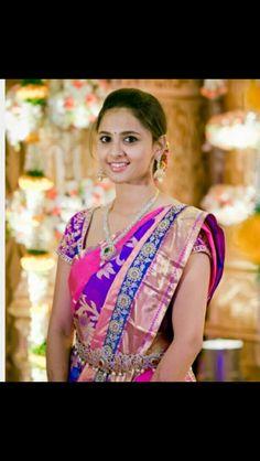 South Indian bride. Diamond bridal jewelry. silk kanchipuram sari. Braid with fresh flowers. Tamil bride. Telugu bride. Kannada bride. Hindu bride. Malayalee bride.