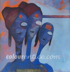 """Bhankti"" Paintings Series by Artist Samadhan Manjare http://colourentice.com/Samadhan-Manjare.php For more works visit us at www.colourentice.com or for assistance call us at 9920042242 ‪#‎Art‬ ‪#‎Paintings‬ ‪#‎homedecor‬ ‪#‎artonsale‬"