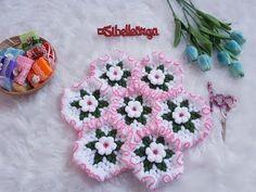 Fırfırlı Yuvarlak Lif Modeli(Sevilay Uysal Tasarımı) - YouTube Crochet Doilies, Crochet Flowers, Crochet Hats, Bon Bon Candy, Homemade Gummy Bears, Diy And Crafts, Crochet Patterns, Embroidery, Towels