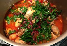 I've been experimenting with Chicken Cacciatore lately. This Chicken Cacciatore - Real Recipes from Mums looks really similar to what I've been doing.