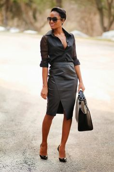 "Now this is how you wear a leather skirt! ""The Daileigh: Cut Different"""