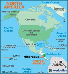 Nicaragua is positioned in the middle of the Central America isthmus - a somewhat narrow strip of land that connects North and South America....