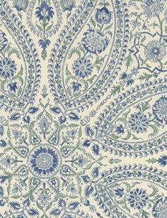 Pattern: Paisley Circles - wallpaper from Sanderson Textiles, Textile Prints, Textile Patterns, Print Patterns, Floral Patterns, Pattern Paper, Pattern Art, Pattern Design, Paisley Art
