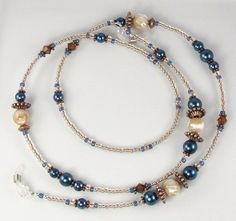 Elegante correa de gafas regalo gafas titular azul perla