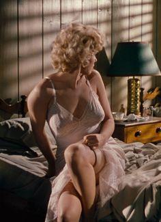 """Marilyn Monroe in a motel scene in, """"Niagara,"""" 1953."""