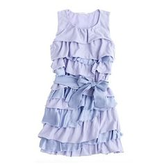 """DIY """"Lucky Penny"""" ruffled t-shirt dress. The tutorial for a kid's dress, but could easily be made into a woman's dress!"""