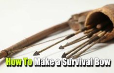 How To Make A Survival Bow - SHTF, Emergency Preparedness, Survival Prepping, Homesteading #survivalpreppingfood