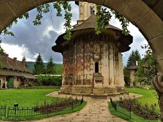 The Painted Monasteries of Bucovina are located in Romania. Places Ive Been, Places To Visit, World Heritage Sites, Romania, Wonders Of The World, Statues, Travel Inspiration, The Good Place, Travel Destinations