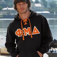 Phi Mu Delta Hockey Hoody - J. America 8830 - TWILL