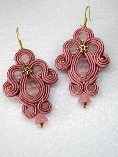 Your place to buy and sell all things handmade Soutache Tutorial, Earring Tutorial, Shibori, Soutache Earrings, Crochet Earrings, Handmade Design, Beaded Embroidery, Quilling, Jewelry Crafts