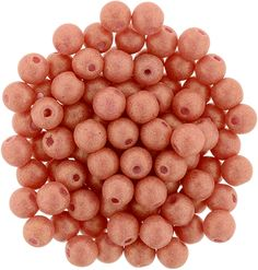 5-04-PS1002 Round Beads 4mm : Pacifica - Strawberry