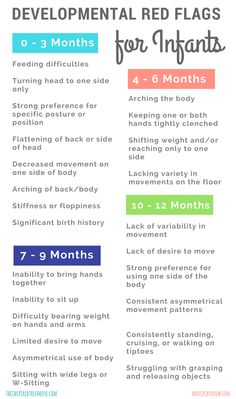 The most common developmental red flags for infants The Inspired Treehouse – Learn about some common developmental red flags for infants that we use to identify developmental delays and other problems. - Baby Development Tips Baby Development Chart, Baby Development Milestones, Child Development Stages, Child Development Activities, Toddler Development, Infant Activities, Baby Milestones, Language Development, 4 Month Old Baby Activities