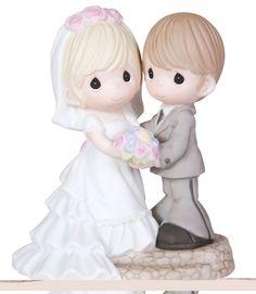 Cute-Precious-Moments-Wedding-Cake-Topper