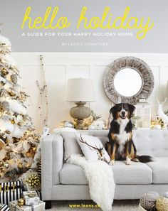 HELLO HOLIDAY GUIDE 2015 A guide for your happy holiday home. Includes home decor, DIY, and recipe inspiration to make your home and holiday a happy one. Christmas Holidays, Christmas Decorations, Christmas Ideas, Merry Christmas, Cottage Christmas, Natural Christmas, Christmas Images, Christmas Cocktail, Diy Outdoor Furniture