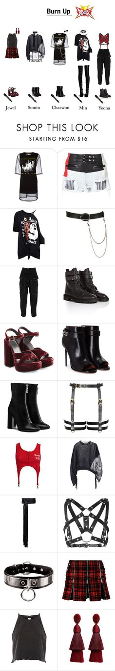 """""""Burn Up ~ Music Bank"""" by newsoundentertainment ❤ liked on Polyvore featuring McQ by Alexander McQueen, Alexander Wang, Boohoo, Wet Seal, Faith Connexion, Golden Goose, Jil Sander, Givenchy, Marni and Alexandre Vauthier"""