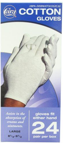 Carex Health Brands Soft Hands Cotton Gloves Extra Large 1 Pair Each