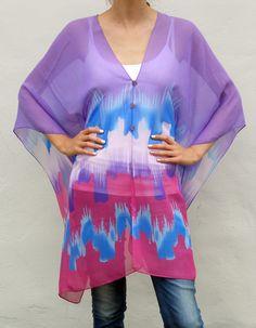 Skyline scarf top: Purple by Anien Botha Designs Scarf Top, Pretty Woman, Tie Dye, Skyline, Purple, Tops, Design, Women, Fashion