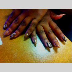 Stiletto nails with tribal art theme Oval Nail Art, Oval Nails, Stiletto Nails, Tribal Art, Heart Ring, Jewelry, Jewlery, Jewerly, Schmuck