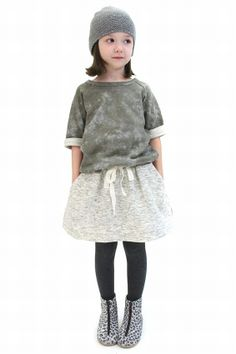 This model makes me think of Harper-April Showers Grey Tie Skirt 8 - Ladida